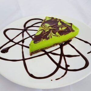 Vegan Chocolate Mint and Spinach Cheesecake